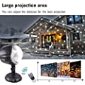 Weihnachtsbeleuchtung Aussen Led Projektionslampe DYDYLU Mit Fernbedienung Schneefall Licht Weiße Schneeflocke Sie Können den Modus ändern Wasserdicht Landschaft Projektor Lampe