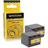 2x Batería VW-VBK360 para Panasonic Camcorder HC-V10 / V100 M / V500 M / V700 M / V707 M - HDC-HS60 / HS80 / SD40 / SD60 / SD66 / SD80 / SD90 / SD99 / SDX1 / TM40 / TM55 / TM60 / TM80 / TM90 - SDR-H85 / H95 / H100 y mucho más…