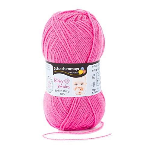 Schachenmayr Baby Smiles Bravo Baby 185 9801212-01036 pink Handstrickgarn, Häkelgarn, Babygarn - Alpaka-wolle Stricken Pullover