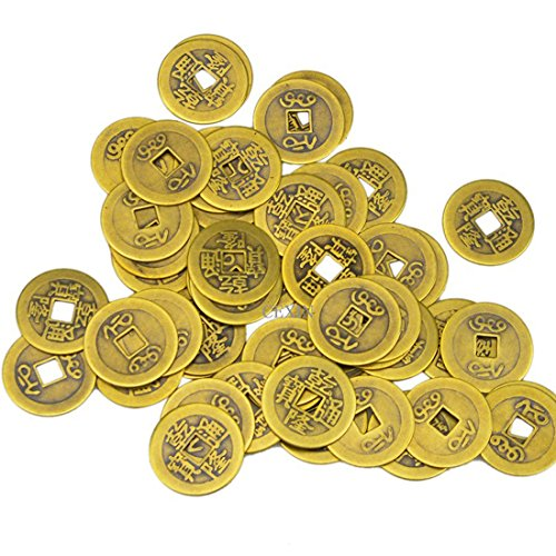 juanxian 50 Grands Laiton Chinois I Ching pièces de Monnaie pour Feng Shui (27 mm) Aa139