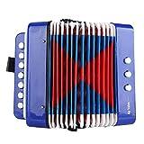 Kinder Akkordeon Spielzeug, 7 Key 2 Bass pädagogische Musikinstrument Spielzeug gutes Weihnachtsgeschenk für Kinder Musik Anfänger