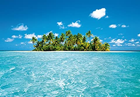 Fototapete - MALDIVE DREAM Malediven - (289i) Größe 366x254 cm 8-teilig - Palmenstrand Meer Strand Palmen Insel Wald Sonne Bäume Landschaft Natur Wohnzimmer Kinderzimmer Küche- Motivtapete Postertapete Bildtapete Wall