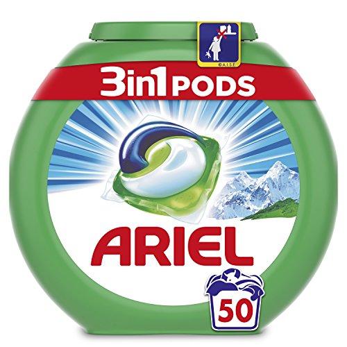 Ariel 3 en 1 Pods Alpine Detergente en Cápsulas - 50Lavados
