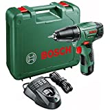 Bosch PSR 1080 LI Cordless Lithium-Ion Drill Driver with 1 x 10.8 V Battery, 1.5 Ah