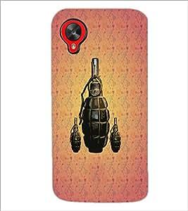 PrintDhaba Hand Granade D-3427 Back Case Cover for LG GOOGLE NEXUS 5 (Multi-Coloured)
