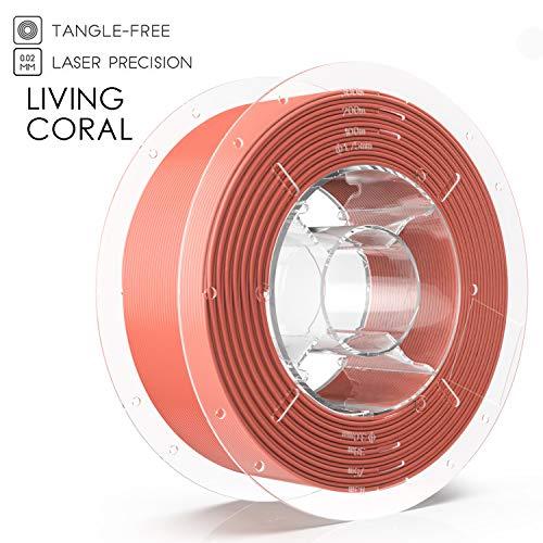 SainSmart PRO-3 PETG - Filamento para impresora 3D, 1,75 mm, bobina de 1 kg, todos los colores, Living Coral, 1