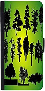 Snoogg 14 Plants Silhouettes Graphic Snap On Hard Back Leather + Pc Flip Cove...