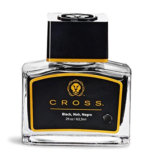 A. T. Cross Tinte für Füllhalter Tintenfass Cross FH-Tinte im Glas schwarz, mit 62,5 ml