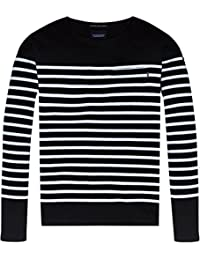 Scotch & Soda Men's Ams Blauw Classic Breton In Seasonal Engineered Stripes T-Shirt