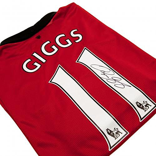 Manchester United FC Official Football Gift Giggs Signed Shirt – A Great Christmas / Birthday Gift Idea For Men And Boys