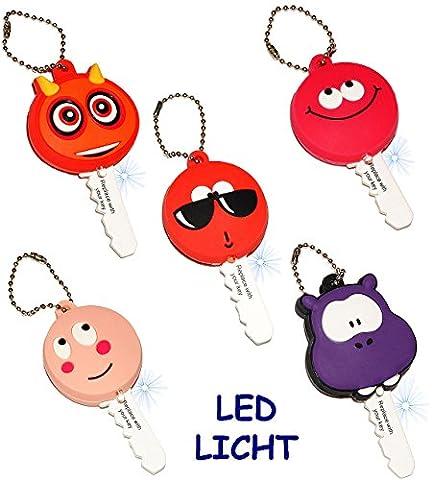 3 Stück _ Schlüsselanhänger mit LED Licht -