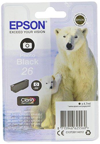 epson xp 620 Epson Original T2611 Tintenpatrone Eisbär, Singlepack Foto schwarz