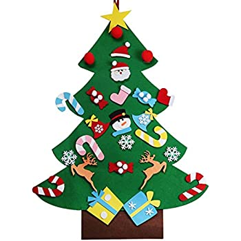 AerWo 3ft DIY Felt Christmas Tree Set with 26 Detachable Ornaments