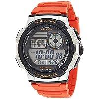Casio Illuminator Watch For Men Orange Resin Strap AE-1000W-4BVDF