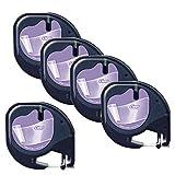 5 Kassetten Dymo LetraTag 12267 S0721530 S0721550 schwarz auf transparent 12mm x 4m Kunststoff Schriftband kompatibel für DYMO LetraTag LT-100H LT-100T LT-110T QX50 XR XM 2000 Plus Beschriftungsgerät