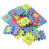 72 ST PONTE 6 6 Cm Minipuzzle tappetino giochi per bambini, ragazzi cartone animato alfanumerico gioco opaco, F & uuml; r soggiorno, camera, studio, K & uuml; Che, corridoio, scuola materna - Yves25Ta