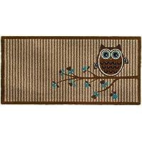 100% Polymide Stylish Home Office Door Mat Owl Printed Vision Barrier Doormats