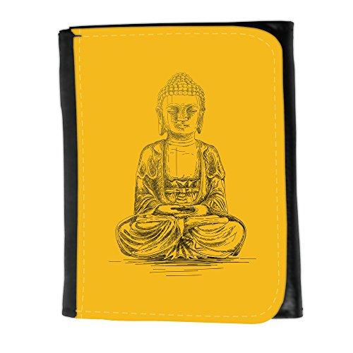 Portemonnaie Geldbörse Brieftasche mit // Q07690602 Buddha 4 Bernstein // Small Size Wallet (Bernstein Herren-geldbörsen)