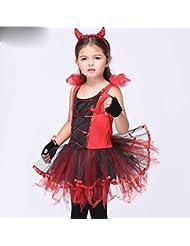 Traje de día de los niños traje traje de danza traje de Halloween traje rojo , xl