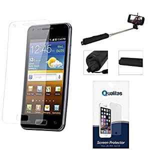 Qualitas Pack of 5 Matte Screen Protector for Motorola Moto G 2nd Gen XT1068 + Wireless Bluetooth Selfie Stick with Image Zoom