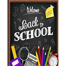 Back to School: Notebooks: Ruled Notebook, Lined Notebook: Large Size (8.5 x 11 inches) Ruled notebook (Composition Notebooks) 150 pages with Date and Page Numbers - Black Background