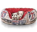 Knuffelwuff panier chien, lit pour chien, coussin, corbeille pour chien Alidho, anglais Union Jack XXL 110 x 95cm