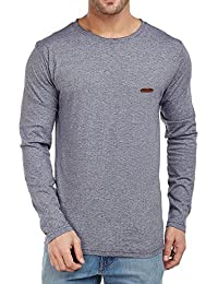 The Dry State Men's Cotton Grey Stylish Fancy Full Sleeves T-shirt