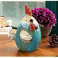 Preisvergleich für URGrace 1Pcs 15x10x12CM Keramik Huhn Münze Bank Währung Sparen Geld Topf Nette Tier Geld Box Kreative Piggy Bank Weihnachten Kinder Geschenk Haus Einrichtung Ornament Keramik Figurinen Dekoration