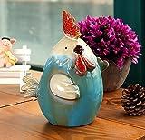URGrace 1Pcs 15x10x12CM Keramik Huhn Münze Bank Währung Sparen Geld Topf Nette Tier Geld Box Kreative Piggy Bank Weihnachten Kinder Geschenk Haus Einrichtung Ornament Keramik Figurinen Dekoration
