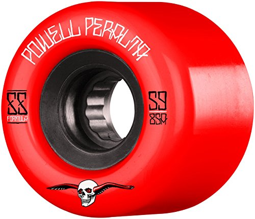 Powell Peralta g-Slides Spiel-4Skateboard-Räder, Unisex Erwachsene, Rot