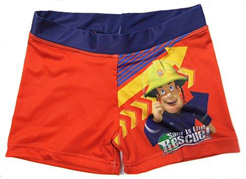 Jungen Fireman Sam Badehose 1 bis zu 5 jahre - Rot, 92 (Pyjama Sam Kostüm)