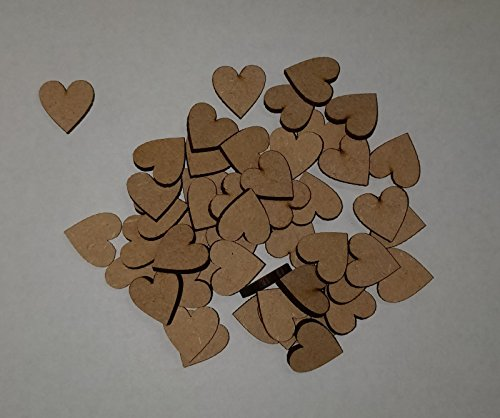 LaserKris Wooden hearts for craft 50 pack 20mm (2cm)