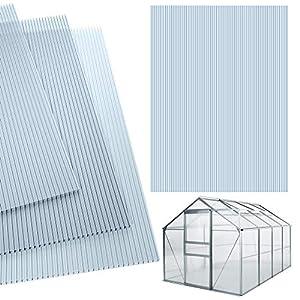 Deuba 14x Polycarbonat Hohlkammerstegplatten 4mm 10,25 m² Doppelstegplatte 1210×605 Stegplatte Gewächshausplatte