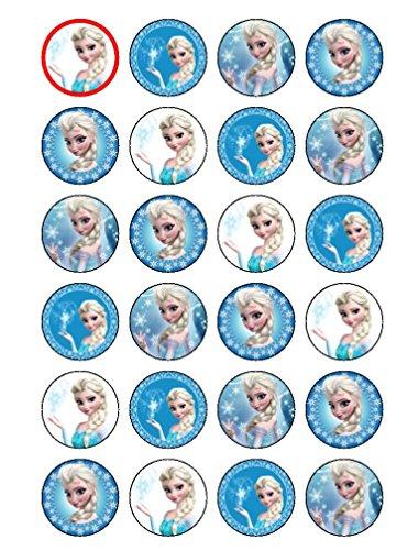 Essbare Cupcake-Aufsetzer im Elsa-Design (Disney-Prinzessin aus