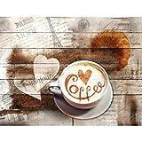 Fototapete Küche Kaffe 396 x 280 cm - Vlies Wand Tapete Wohnzimmer Schlafzimmer Büro Flur Dekoration Wandbilder XXL Moderne Wanddeko - 100% MADE IN GERMANY - 9367012a