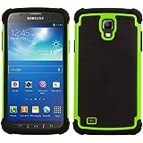 kwmobile Hybrid Outdoor Hülle für Samsung Galaxy S4 Active - Dual TPU Silikon Hard Case Handy Hard Cover in Neon Grün Schwarz