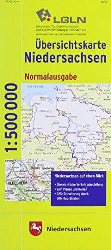 Topographische Sonderkarten Niedersachsen. Sonderblattschnitte auf der Grundlage der amtlichen topographischen Karten, meistens grösseres ... Verkehr, Gewässer, Vegetation, Schummerung