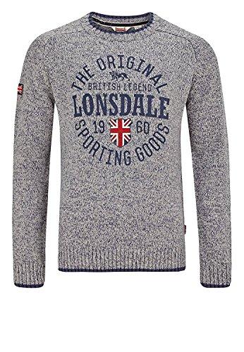 Lonsdale Herren BORDEN Light Grey