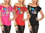 Damen I Love The 80er Jahre T-shirt Outfit Damen Pop Star Top Kostüm