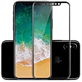 ERIT Premium Full Screen Edge To Edge Coverage 2.5D Curved 5D HD+ Tempered Glass Screen Guard Protector For Apple IPhone X (Black Edition)