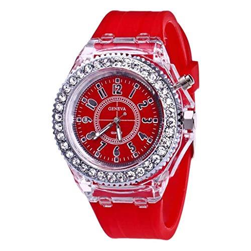 Yallylunn Fashion Transparent Neutral Quartz Luminous Female Silicone Tape Sports Watch Diamond Damenuhr Temperament Elegante Armbanduhr Kleine Zifferblattuhr
