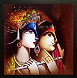 SAF Radha Krishna Exclusive Framed Wall Art Paintings (Synthetic, 30 cm x 3 cm x 30 cm)