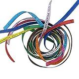 25 Brasilianische Glücksbänder, verschiedene Farben, WM Fanartikel