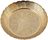 Aatm Brass Handicraft Embossed Designed Puja Plate Best for Home & Office Decoration & Gift Purpose Ha