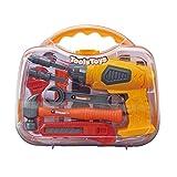 Erduo Tragbare Werkzeuge Box Pädagogisches Spielzeug Simulation Elektrische Bohrer Schraubendreher Werkzeuge Reparatur Kit Sicherheit DIY Werkzeug Spielzeug Für Kinder