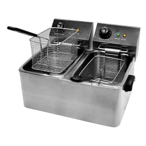 """51n4Frz2U1L. SS500  - Commercial Quality Double Deep Fryer 8 litre capacity with a 12 month commercial """"on site"""" guarantee"""