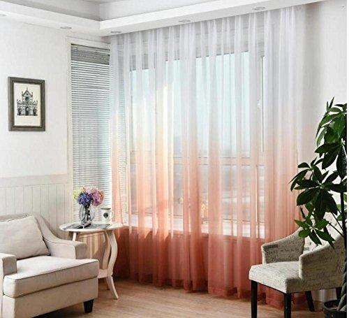 Decorazione di nozze moderna Tulle Tende Camera da letto di gradiente Rampa  di tenda di filo finestra di tenda di finestra , 1 , 1pc(W300xH270 cm)