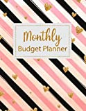 Monthly Budget Planner: Golden Hearts and Stripes Weekly Expense Tracker Bill Organizer Notebook Business Money Personal Finance Journal Planning ... Volume 6 (Expense Tracker Budget Planner)