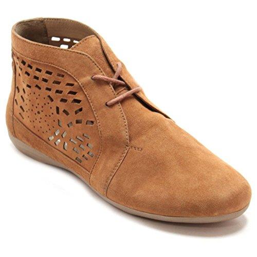 Marc Shoes Janine, Bottes type Desert Boots non doublées - Hauteur à mi-mollet femme Marron