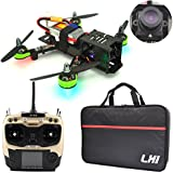 LHI FPV RTF Full Carbon Fiber 220 mm Quadcopter Race Copter Racing Drone with Radiolink AT9S Remote Controller 1000TVL Camera TS5828(Assembled)